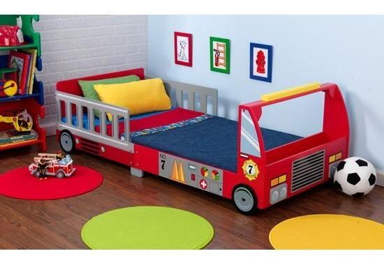 8434fe9f07cc Detská posteľ Hasičské auto