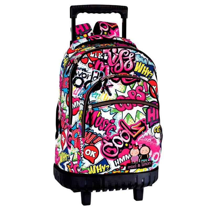 a979dfab3701c Perona Campro Miel & Limon Kiss Me školský batoh na kolieskach