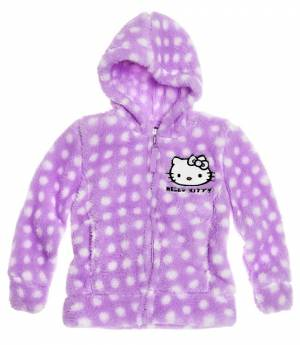 Disney HELLO KITTY bunda coral fialová